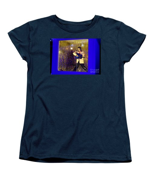 Blue Christmas Without Elvis Women's T-Shirt (Standard Cut) by Kathy  White