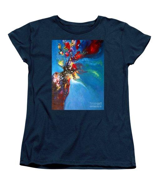 Blue Harmony  Women's T-Shirt (Standard Cut) by Sanjay Punekar