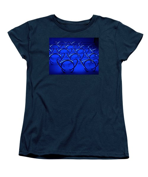 Women's T-Shirt (Standard Cut) featuring the photograph Blue Haze Circles by Joan Reese