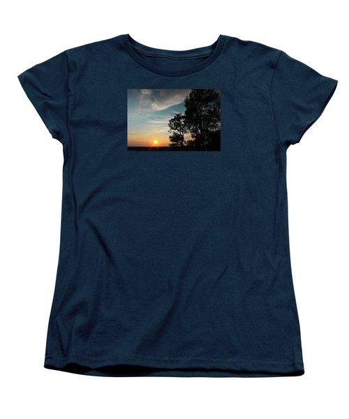 Women's T-Shirt (Standard Cut) featuring the photograph Blue Heaven Sunset by Julie Andel