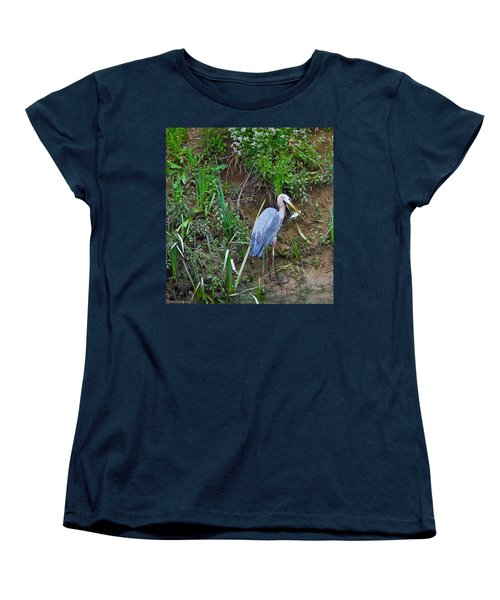 Women's T-Shirt (Standard Cut) featuring the photograph Blue Heron by Brian Williamson