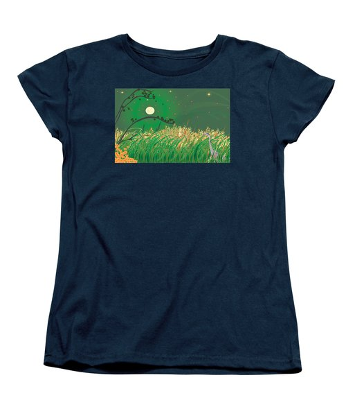 Blue Heron Grasses Women's T-Shirt (Standard Cut) by Kim Prowse