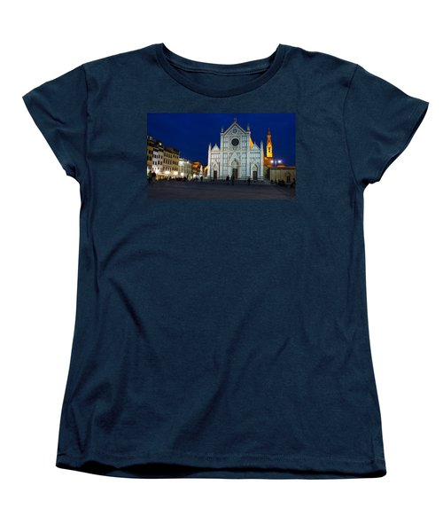 Blue Hour - Santa Croce Church Florence Italy Women's T-Shirt (Standard Cut)