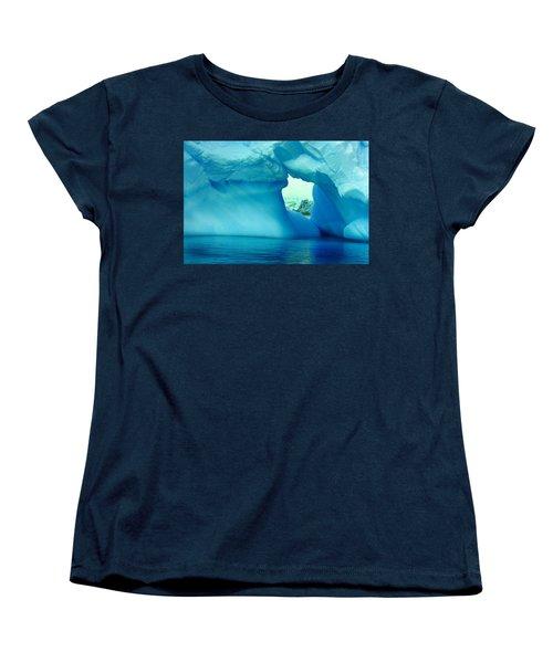 Blue Iceberg Antarctica Women's T-Shirt (Standard Cut) by Amanda Stadther