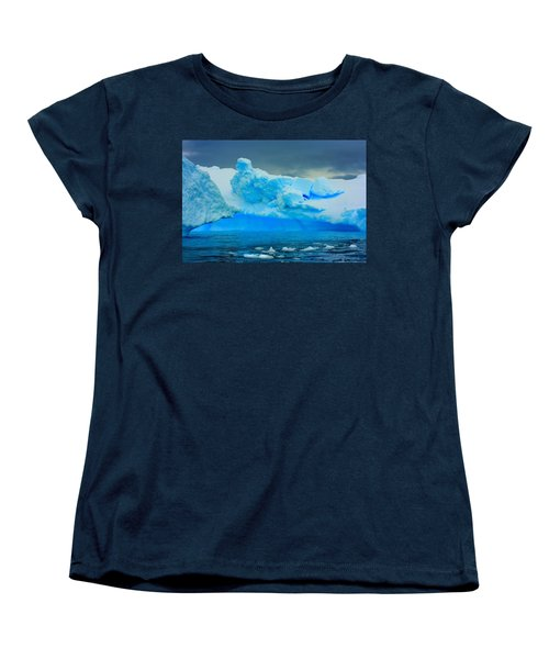 Women's T-Shirt (Standard Cut) featuring the photograph Blue Icebergs by Amanda Stadther