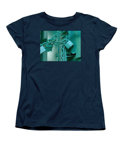 Women's T-Shirt (Standard Cut) featuring the photograph Blue Locks by Rodney Lee Williams