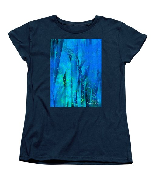 Women's T-Shirt (Standard Cut) featuring the painting Feeling Blue by Yul Olaivar