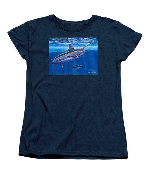 Blue Marlin Bite Off001 Women's T-Shirt (Standard Cut)