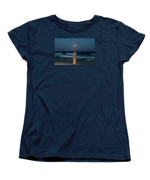 Women's T-Shirt (Standard Cut) featuring the photograph Blue Moon by Cynthia Guinn