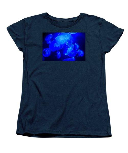 Blue Moon Jellies Women's T-Shirt (Standard Cut) by Karon Melillo DeVega