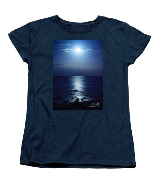 Blue Moon Rising Women's T-Shirt (Standard Cut) by Peta Thames