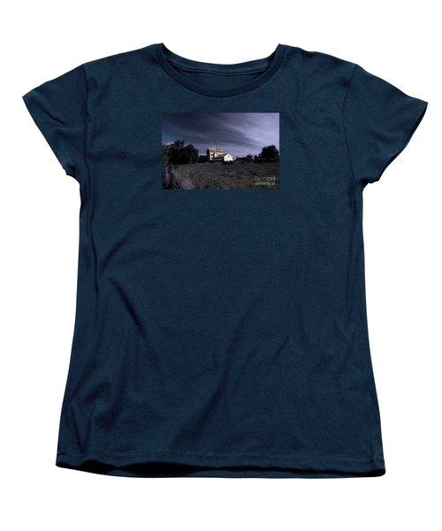 Women's T-Shirt (Standard Cut) featuring the photograph Blue Night by Nareeta Martin