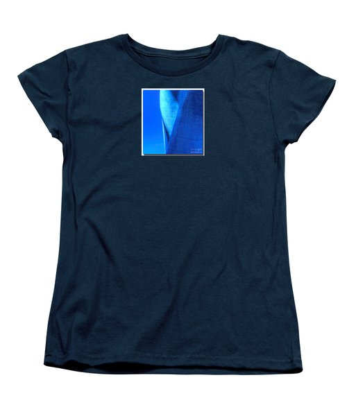 Women's T-Shirt (Standard Cut) featuring the photograph Blue On Blue Cropped Version by Chris Anderson
