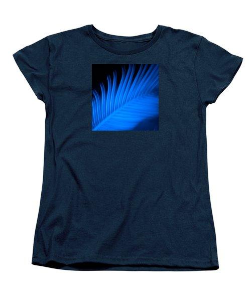 Blue Palm Women's T-Shirt (Standard Cut) by Darryl Dalton