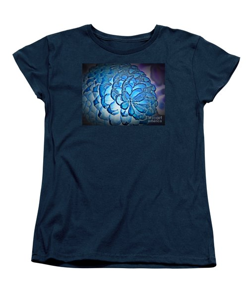 Blue Pine Cone 2 Women's T-Shirt (Standard Cut) by Chalet Roome-Rigdon