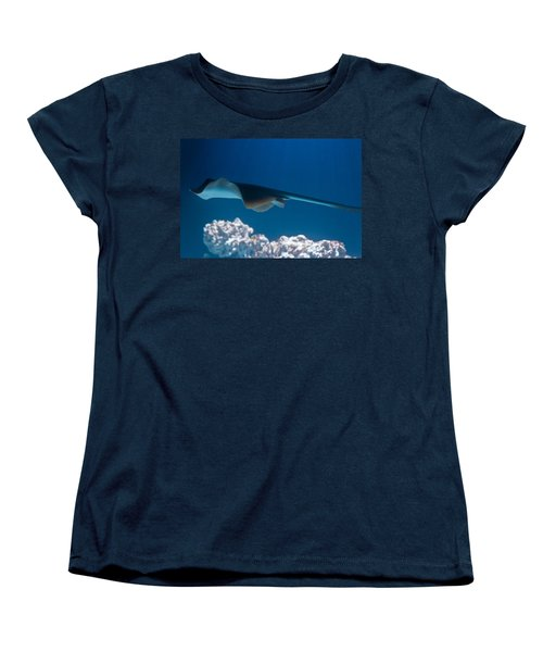 Women's T-Shirt (Standard Cut) featuring the photograph Blue Spotted Fantail Ray by Eti Reid
