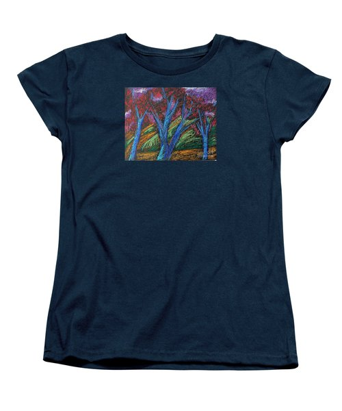 Central Park Blue Tempo Women's T-Shirt (Standard Cut) by Elizabeth Fontaine-Barr