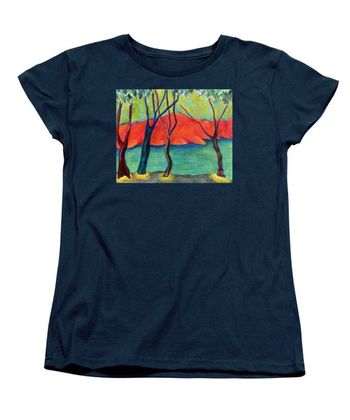 Blue Tree 2 Women's T-Shirt (Standard Cut) by Elizabeth Fontaine-Barr