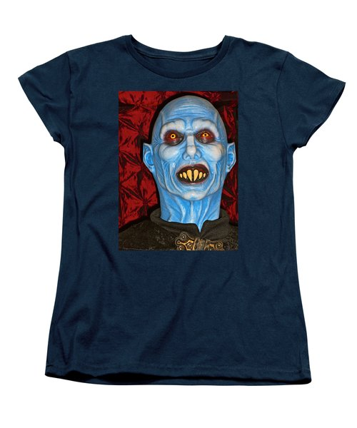 Women's T-Shirt (Standard Cut) featuring the photograph Blue Vampire by Joan Reese