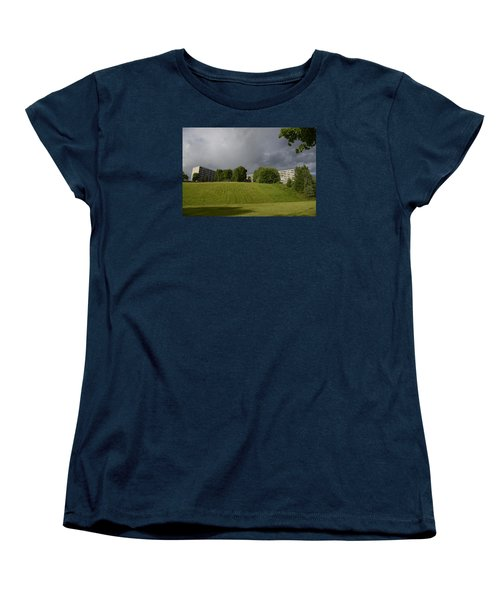 Women's T-Shirt (Standard Cut) featuring the photograph Blue Visions 3 by Teo SITCHET-KANDA