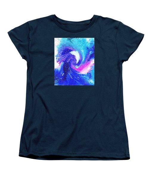 Women's T-Shirt (Standard Cut) featuring the digital art Blue Vortex by Mariarosa Rockefeller