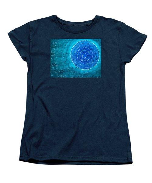 Blue World Original Painting Women's T-Shirt (Standard Cut) by Sol Luckman