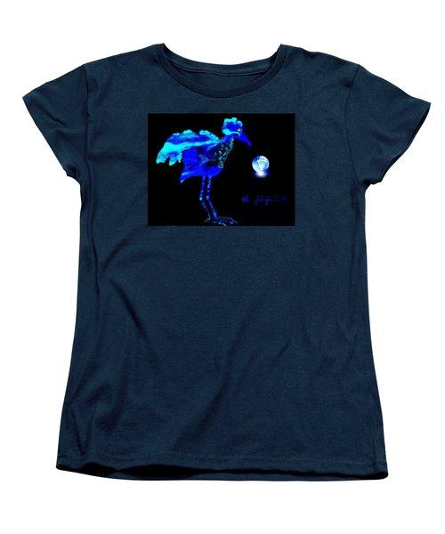 Women's T-Shirt (Standard Cut) featuring the painting Bluebird Watching by Hartmut Jager