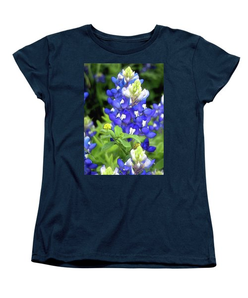 Bluebonnets Blooming Women's T-Shirt (Standard Cut) by Stephen Anderson