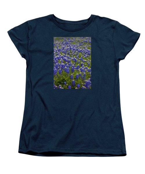 Bluebonnets Forever Women's T-Shirt (Standard Cut) by Mark Alder