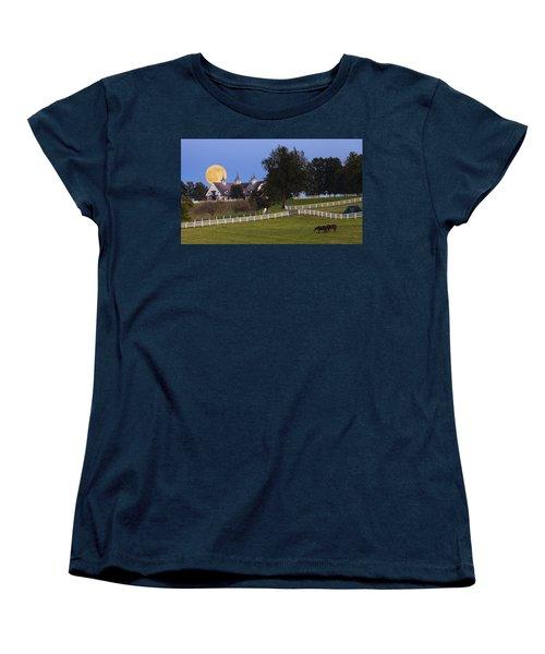Bluegrass Moonrise Women's T-Shirt (Standard Cut) by Alexey Stiop