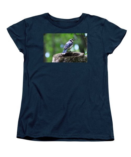 Women's T-Shirt (Standard Cut) featuring the photograph Bluejay by Alyce Taylor