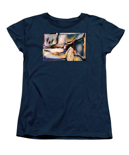 Blues And Orange Women's T-Shirt (Standard Cut) by Glory Wood