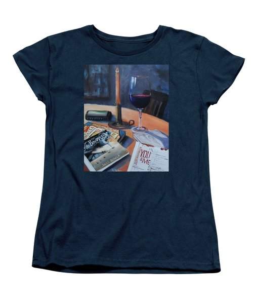 Blues And Wine Women's T-Shirt (Standard Cut)