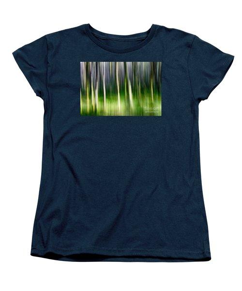 Women's T-Shirt (Standard Cut) featuring the photograph Blurred by Juergen Klust