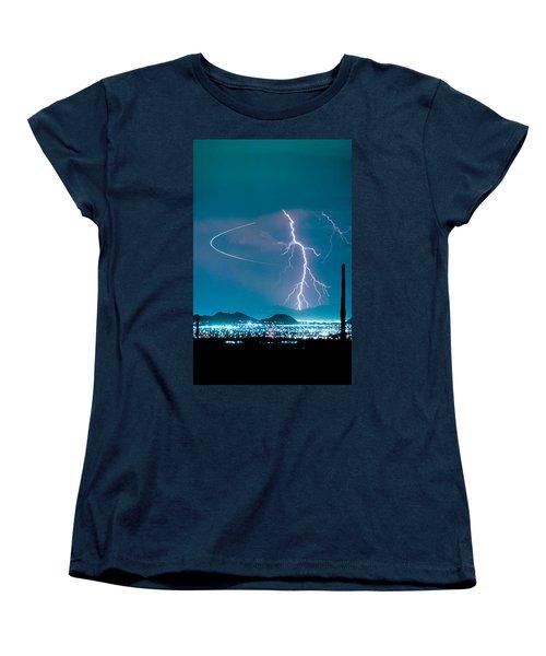 Bo Trek The Lightning Man Women's T-Shirt (Standard Cut) by James BO  Insogna