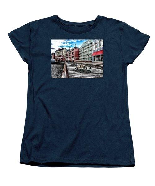 Boardwalk Early Morning Women's T-Shirt (Standard Cut) by Thomas Woolworth