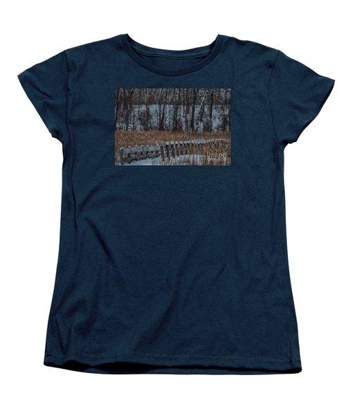 Women's T-Shirt (Standard Cut) featuring the photograph Boardwalk Series No2 by Bianca Nadeau