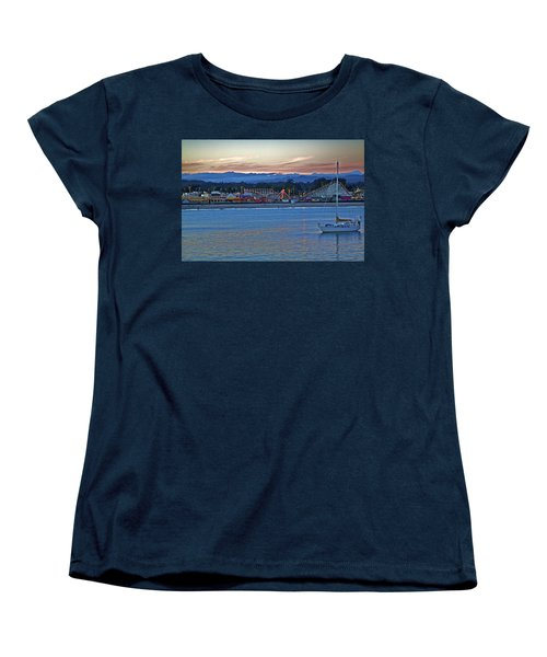 Boat At Dusk Santa Cruz Boardwalk Women's T-Shirt (Standard Cut)