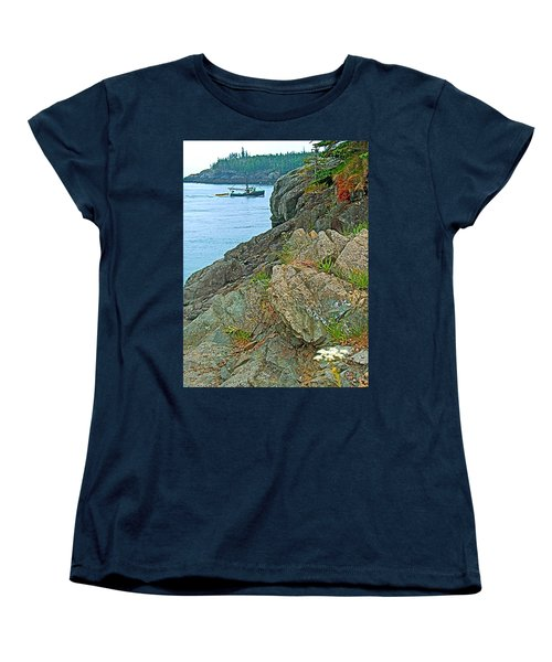 Boat By East Quoddy Bay On Campobello Island-nb Women's T-Shirt (Standard Cut) by Ruth Hager
