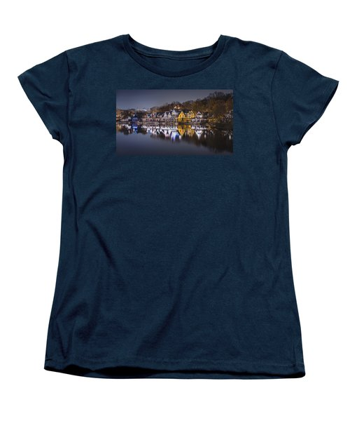 Boathouse Row Women's T-Shirt (Standard Cut) by Eduard Moldoveanu