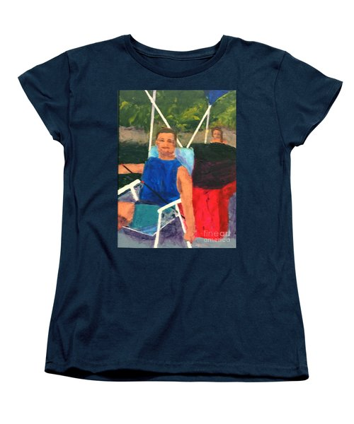 Women's T-Shirt (Standard Cut) featuring the painting Boating by Donald J Ryker III