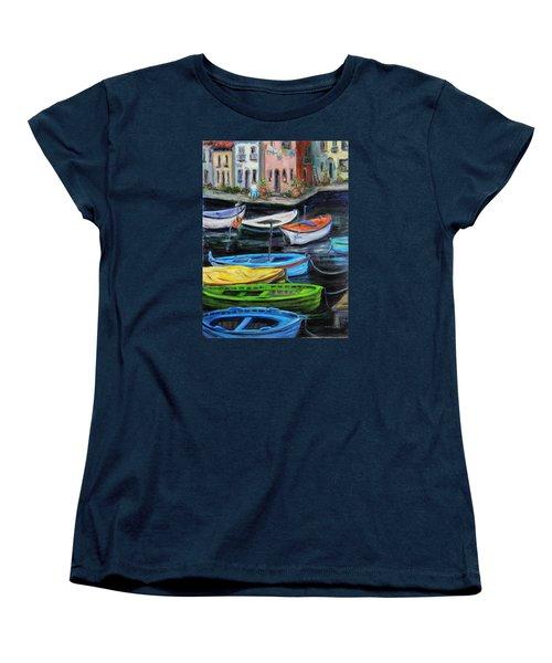 Boats In Front Of The Buildings II Women's T-Shirt (Standard Cut)