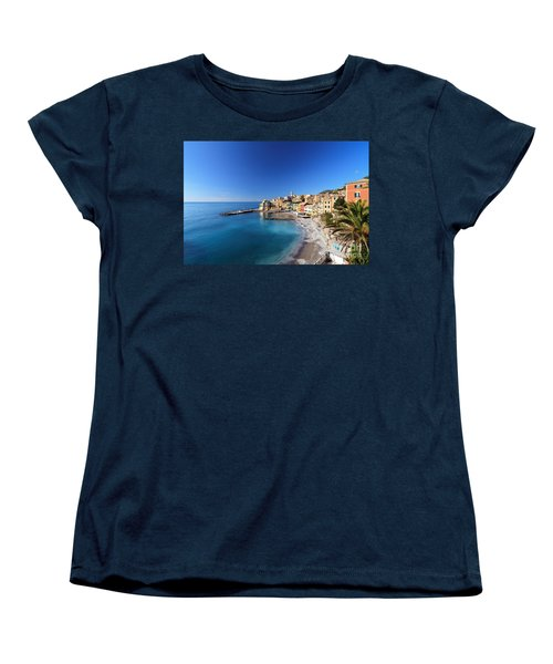 Bogliasco Village. Italy Women's T-Shirt (Standard Cut) by Antonio Scarpi