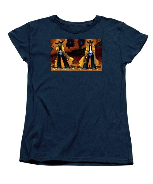 Bonnie And Clyde Women's T-Shirt (Standard Cut) by Lance Headlee