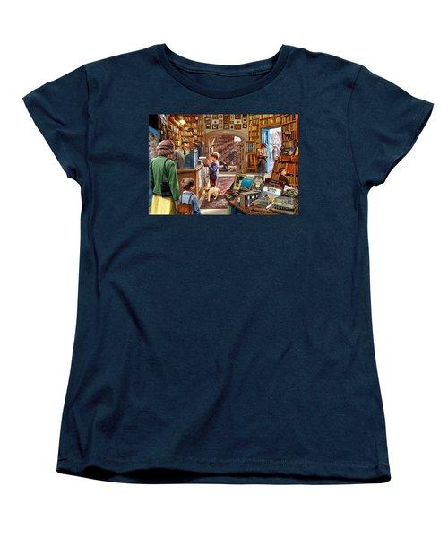 Bookshop Women's T-Shirt (Standard Cut) by Steve Crisp