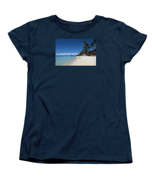 Boracay Beach Women's T-Shirt (Standard Cut) by Joey Agbayani