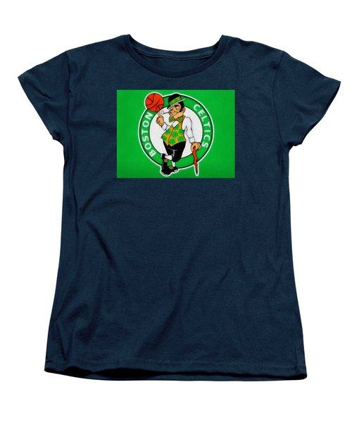Boston Celtics Canvas Women's T-Shirt (Standard Cut)