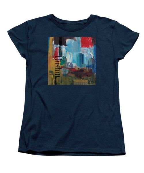 Boston City Collage 3 Women's T-Shirt (Standard Cut) by Corporate Art Task Force