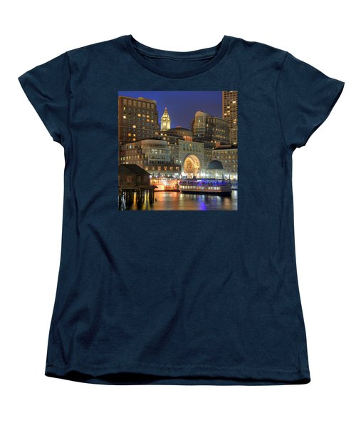 Boston Harbor Party Women's T-Shirt (Standard Cut) by Joann Vitali