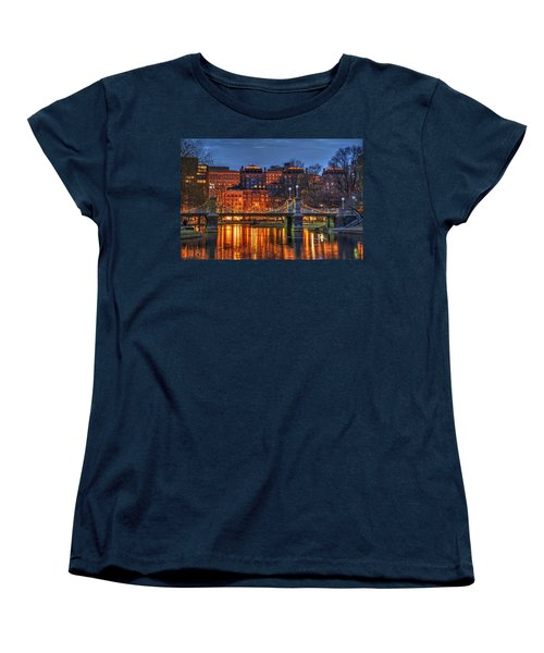 Boston Public Garden Lagoon Women's T-Shirt (Standard Cut) by Joann Vitali